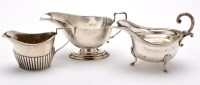 Lot 626 - A George V sauce boat, by Deakin & Francis,...