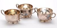 Lot 629 - Three Elizabeth II two-handled bowls, by B.S.C....