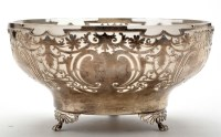 Lot 636 - A George VI fruit bowl, by Walker & Hall,...