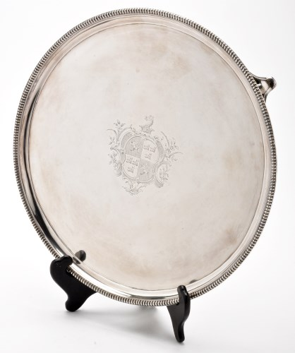 Lot 641-A George III salver, by Peter and Ann Bateman,...
