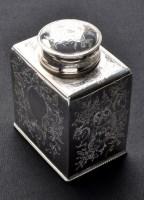 Lot 643 - A George III tea caddy, by W.S., London 1781,...