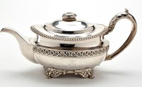 Lot 644 - A George III teapot, by Joseph Craddock and...