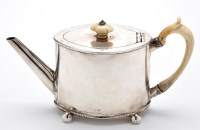 Lot 653 - A George III teapot, by James Young, London...