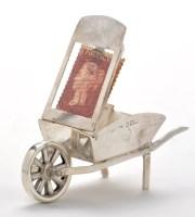Lot 701 - A Victorian silver wheelbarrow pattern stamp...