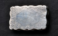 Lot 707 - A Victorian silver snuff box, by George Unite,...
