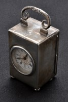 Lot 708 - A Victorian silver cased carriage clock, marks...