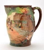 Lot 1144-Royal Doulton 'coaching' jug, inscribed ''Regency ...
