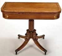 Lot 1354-A Regency mahogany rectangular-shaped tea table,...
