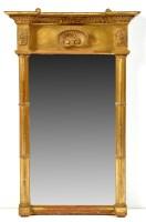 Lot 1402-A Regency gilt frame pier glass, with breakfront...