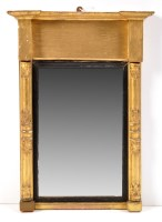 Lot 1463-A Regency gilt painted pier glass with breakfront ...