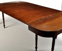 Lot 1515-A Regency mahogany dining table, D-ends with two...
