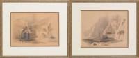 Lot 23 - David Roberts, RA (1796-1864) ''PETRA'' AND...