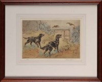 Lot 30 - Henry Wilkinson (1921-2001) TWO BLACK GUN DOGS...