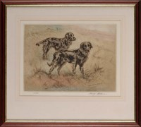 Lot 32 - Henry Wilkinson (1921-2001) TWO BLACK GUN DOGS...