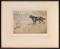 Lot 34 - Henry Wilkinson (1921-2001) A BLACK GUN DOG...