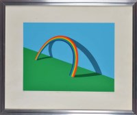 Lot 58 - Patrick Hughes (1939-) ''LEANING ON A...