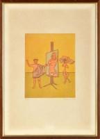 Lot 59 - Panayotis Kalorkoti (1957-) ''PICASSO'S STUDIO'...