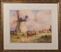 Lot 100 - John Atkinson (1863-1924) A HORSECART PASSING...