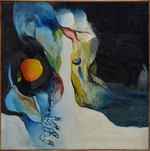 Lot 260-Sunil Das (Indian 1939-) ABSTRACT COMPOSITION...