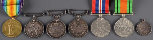 Lot 425-A group of First and Second World War medals,...