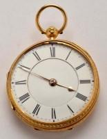 Lot 725-A Victorian 18ct. gold gentleman's open faced...