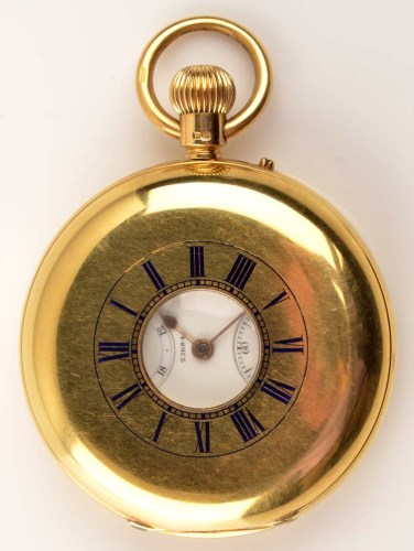 Lot 740-Rowell & Harris, Oxford: a gentleman's 18ct. gold ...