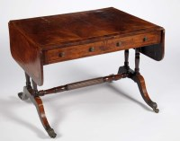Lot 1223-A late Regency mahogany and rosewood crossbanded...