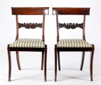 Lot 1287-A set of four Regency mahogany dining chairs,...