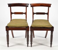 Lot 1303-A set of four Regency rosewood dining chairs,...