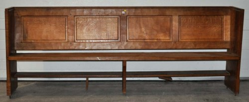 Lot 1337 - Thompson of Kilburn: an oak 'Mouseman' pew...