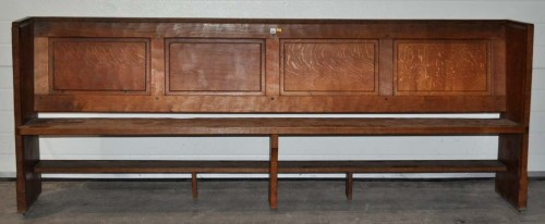 Lot 1338-Thompson of Kilburn: an oak 'Mouseman' pew with...