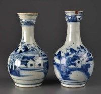 Lot 4 - Two blue and white provincial gugglets, 18th...