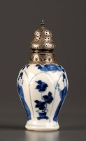 Lot 7 - An 18th Century blue and white vase, Kangxi...