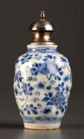 Lot 8 - An 18th Century blue and white vase, Kangxi...