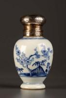Lot 9 - An 18th Century blue and white vase, Kangxi...