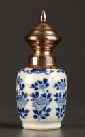 Lot 10 - An 18th Century blue and white vase, Kangxi...