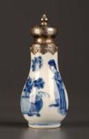 Lot 15 - An 18th Century blue and white vase, Kangxi...