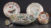 Lot 17 - A group of porcelains, comprising: a large...