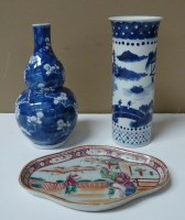 Lot 22 - Three pieces of Chinese porcelain, an 18th...