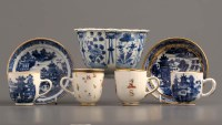 Lot 36 - A group of 18th Century porcelains, comprising:...
