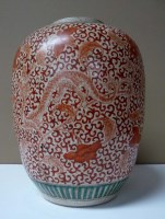 Lot 39 - A baluster vase, painted in late Ming style...
