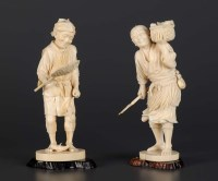 Lot 75 - A carved ivory okimono, signed Seikei, Meji...