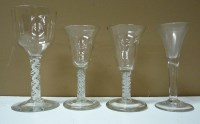 Lot 103 - Four 18th Century style glasses, two similar...