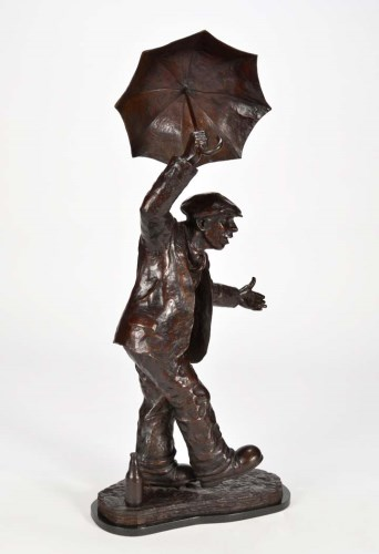 Lot 406-Alexander Millar (b1960-) ''SINGING IN THE RAIN'' ...