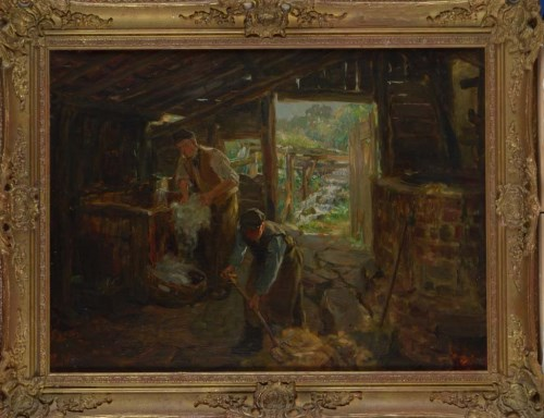 Lot 481-Ralph Hedley, RBA (1848-1913) ''THE WOOLWASHERS'' ...