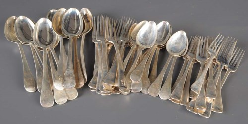 Lot 567-A suite of Victorian flatware, by Reid & Sons,...