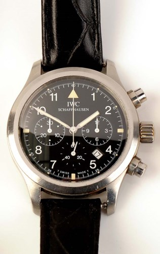 Lot 828-International Watch Company: a steel cased...