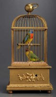 Lot 1178-A late 19th Century musical automaton bird cage,...
