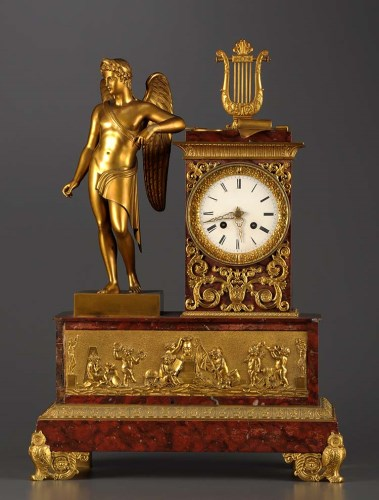 Lot 1264-A French 19th Century gilt bronze and marble...