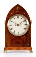 Lot 1268-A Regency mahogany and brass inlaid bracket clock,...